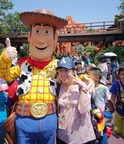 Woody and Sakura at Tokyo Disneyland