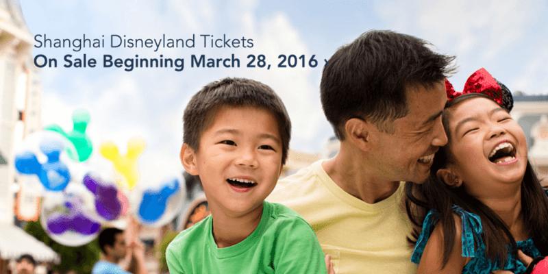 Shanghai Disneyland Park Tickets on Sale March 28