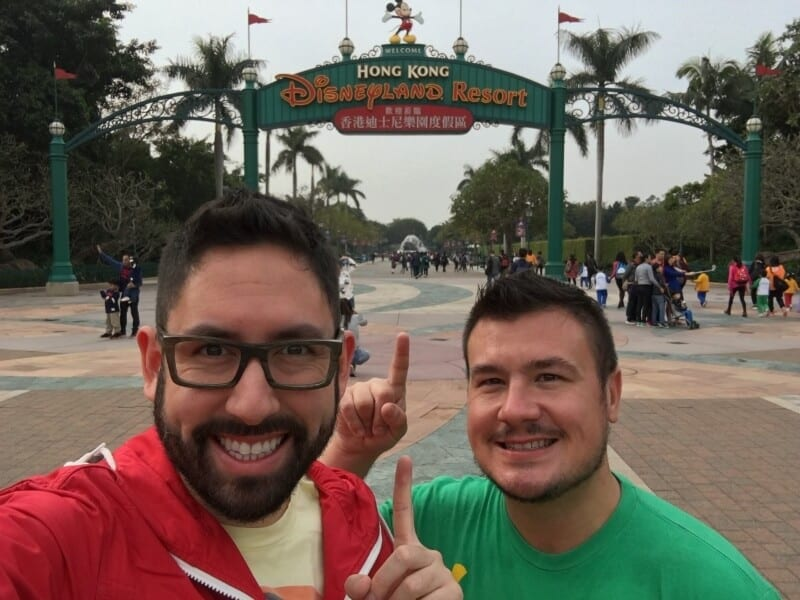 Chris and John Hong Kong Disneyland