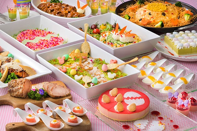 Easter Buffet Adult ¥3,090 Children 7-12 Years ¥1,950 Children 4-6 Years ¥1,230 Available at the Crystal Palace Restaurant