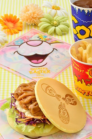 Good Time Cafe Special Set ¥990 Includes Fried Tatsura Chicken Pancake Sandwich French Fries Soft Drinks Available at Huey, Dewey and Louie's Good Time Cafe