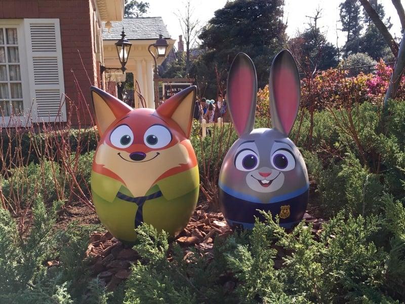 Nick and Judy Easter Eggs Tokyo Disneyland