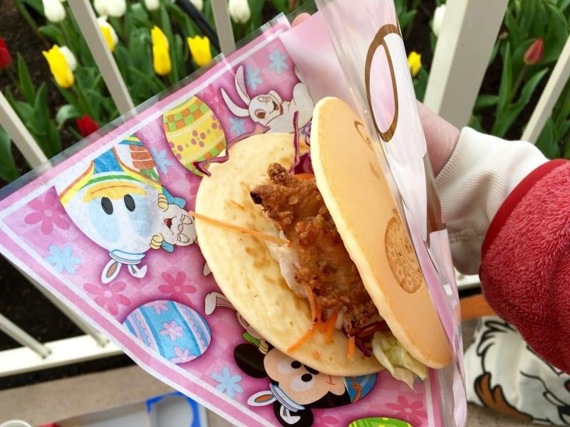 Pancake Chicken Sandwich Easter Tokyo Disneyland