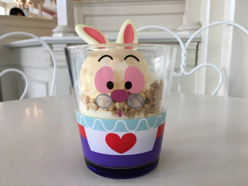White Rabbit Parfait Dessert Snack Easter Tokyo Disneyland