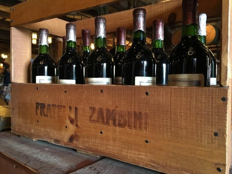 Wine Crate Zambini Brothers Ristorante Tokyo DisneySea