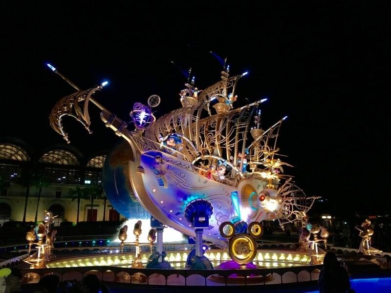 Wing of Wishes Tokyo DisneySea Nighttime