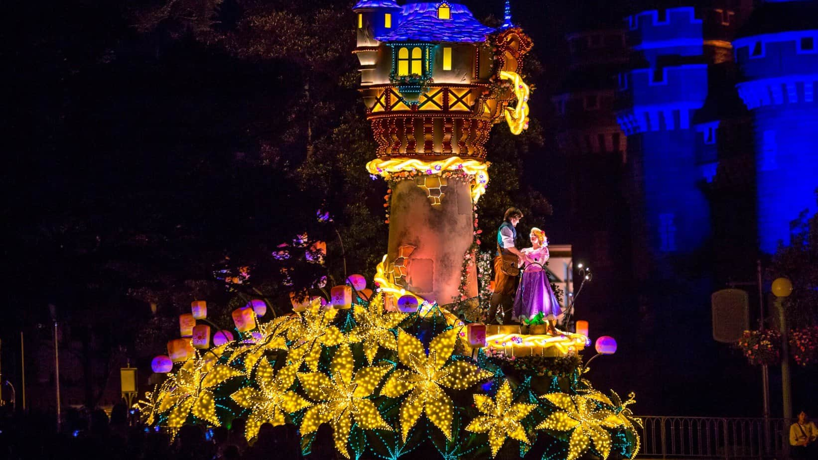 Tangled float in Tokyo Disneyland Electrical Parade Dreamlights. Photo ...