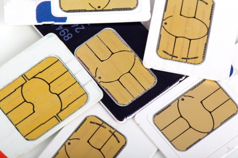 SIM cards are the key to telling your phone which network it's on, what your phone number is, and what service you're authorized to have access to. (Photo Credit : Petr Kratochvil / Public Domain Image)