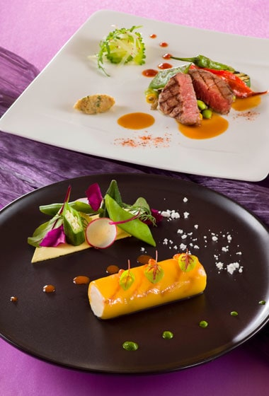Bella Vista Lounge Dinner Course ¥4,940 Available between 5.00 pm - 10.00 pm at the Bella Vista Lounge Please Note: Priority Seating is required