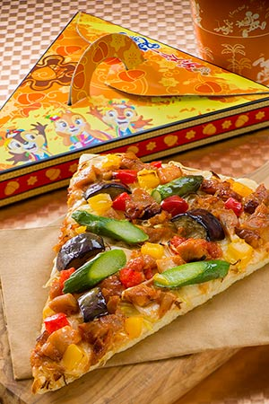 Captain's Hook Galley Special Set ¥730 Includes Spicy Japanese Style Chicken and Green Onion Pizza Soft Drink Available at Captain Hook's Galley