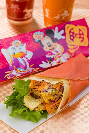 Special Crepe Cold Chicken Curry & Ratatouille Crepe ¥520 Available from Cafe New Orleans