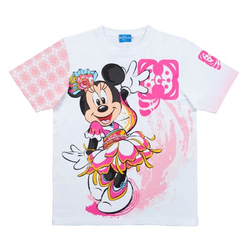 Minnie T-Shirt Sizes: 100, 110, 120 CM ¥1,900 130, 140, 150 CM ¥2,300 S, M, L, LL ¥2,600 3L ¥2,900 Please note sizes may differ to your own country