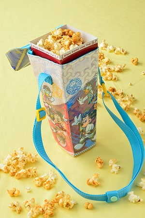 Regular Popcorn Box, with Souvenir Case ¥1,200 Available from several Popcorn Wagons across the Park
