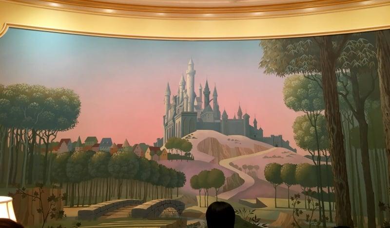 Reception Desk Wallpaper Royal Banquet Hall Shanghai Disneyland