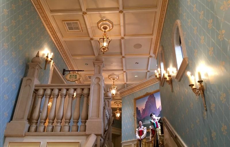 Stairway 2nd Floor Royal Banquet Hall Shanghai Disneyland