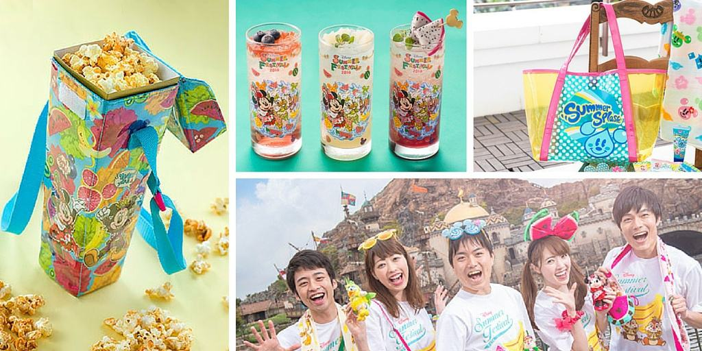 Summer Festival 2016 Merchandise and Food at Tokyo DisneySea