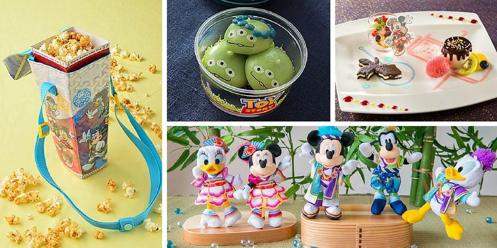 Natsu Matsuri 2016 Merchandise and Food at Tokyo Disneyland