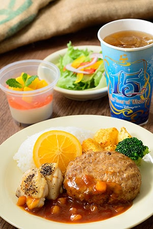 Yucatan Base Camp Grill Special Set ¥1,580 Includes Hamburger in a Pineapple Polynesian Sauce with Saute Chicken and Rice Mini salad Coconut Mousse and Acerola Jelly Dessert Soft Drink Available from Yucatan Base Camp Grill