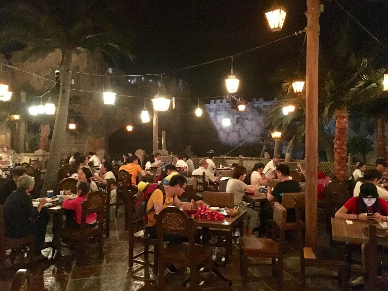 Barbossa Bounty Seating Shanghai Disneyland