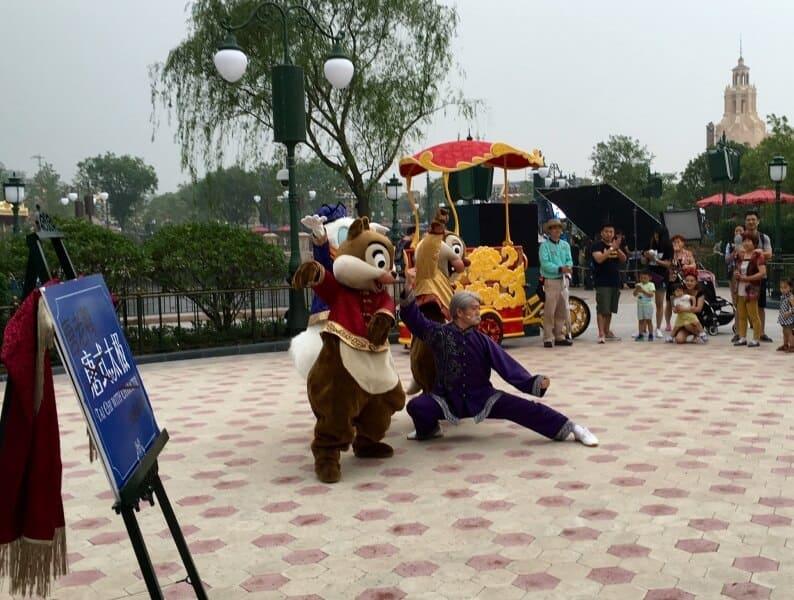 Chip N Dale Tai Chi Shanghai Disneyland