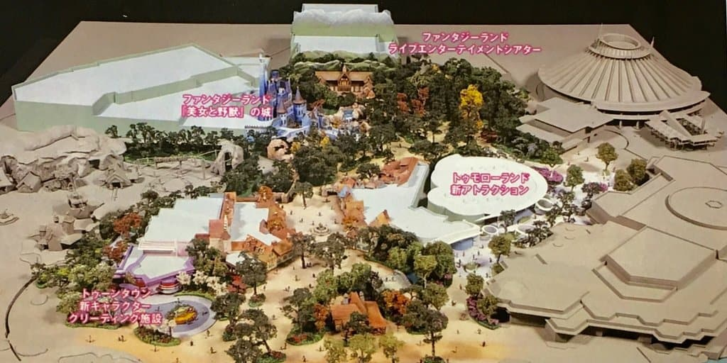 Image of Fantasyland Expansion Model at Tokyo Disneyland
