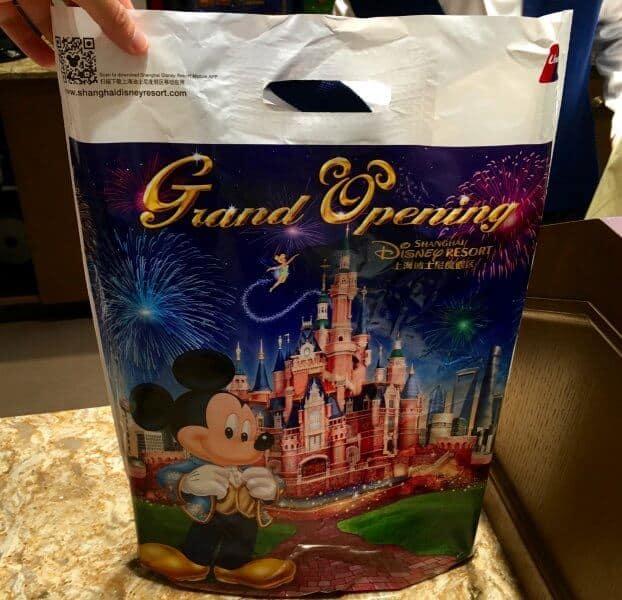 Shanghai Disneyland Grand Opening Plastic Bags