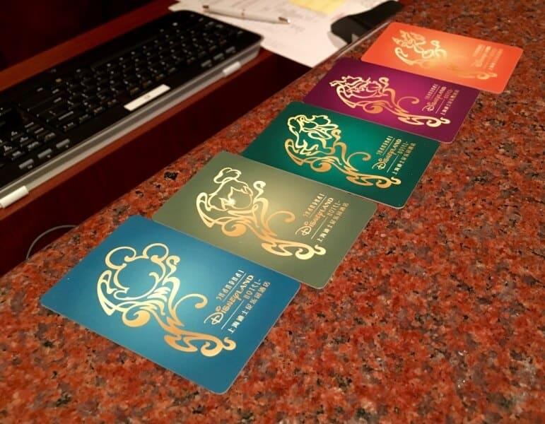 Shanghai Disneyland Hotel Room Keys