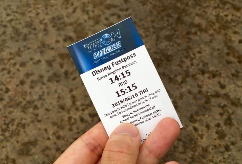 TRON FastPass Shanghai Disneyland Grand Opening
