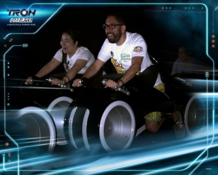 TRON lightcycles Shanghai Disneyland PhotoPass