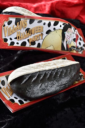 Special Gyoza Sausage Dog ¥550 (Inspired by Cruella de Vil) Available from the Nautilus Galley Please note that the regular Gyoza Sausage Dog will not be available during this time