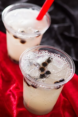 Sparkling Black Tapioca Drink (Sour White & Citrus) ¥450 (Inspired by Cruella de Vil) Available from the Nautilus Galley