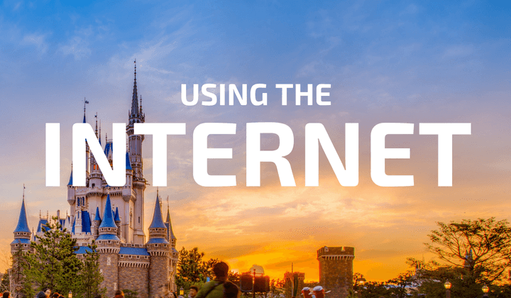 Using the Internet at Tokyo Disney