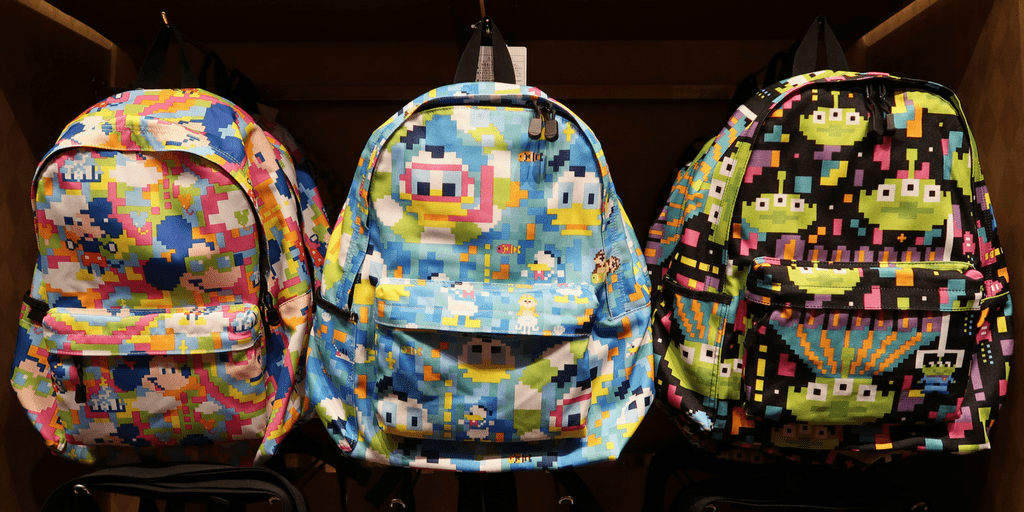 VIDEO: Close look at the 8-Bit Hoodies, Backpacks, and Underwear at Tokyo Disney Resort