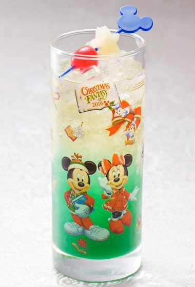 Disney's Christmas Fantasy Special Non-Alcoholic Cocktail with Collectible Glass ¥1,860 Please Note: Cocktail is also available at Restaurant Hana, Hyperion Lounge and Chef Mickey's