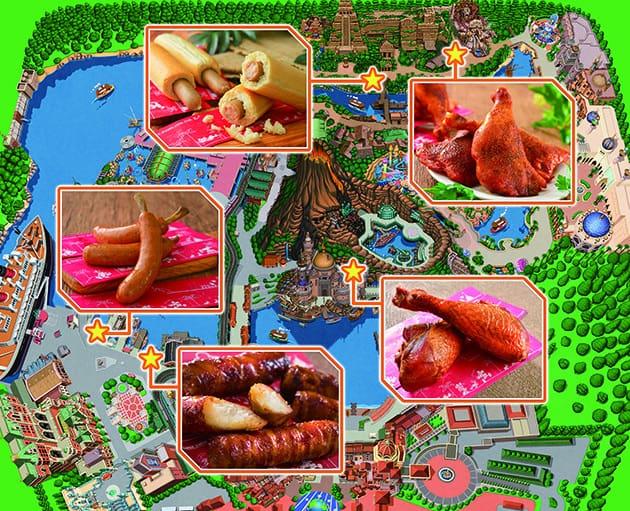 Tokyo DisneySea Food Map