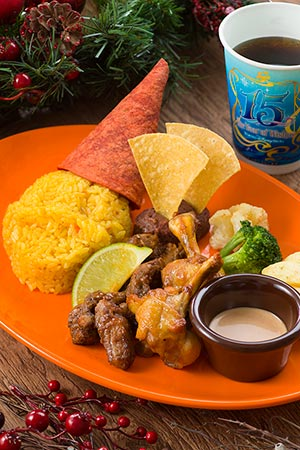 Miguel's El Cantina Special Set ¥1580 Includes Chicken and Beef with Spicy Tomato Mayonnaise, Turmeric Rice and Tortillas Soft Drink Available from Miguel's El Cantina