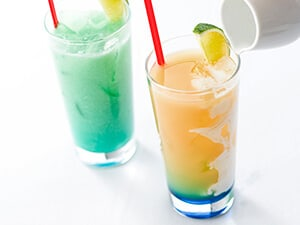 Specialty Drinks ¥600 Pineapple and Peach, served with Coconut Syrup