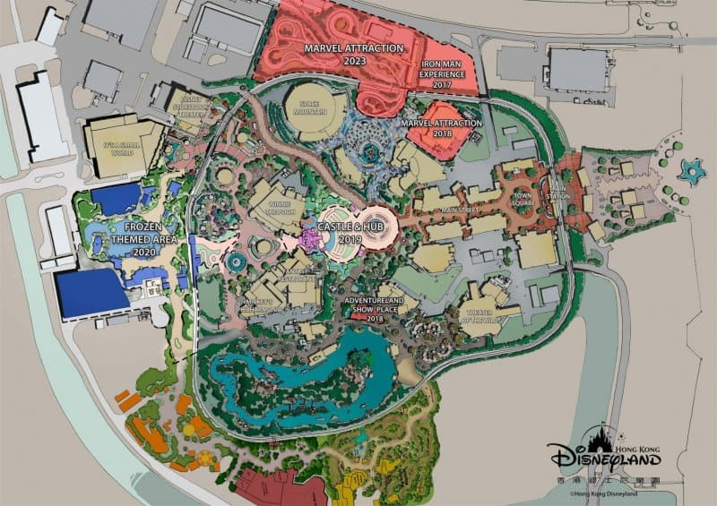 Site plan for Hong Kong Disneyland