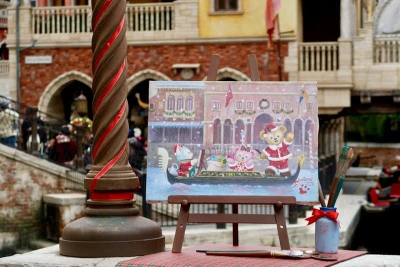 Duffy ShellieMay Gelatoni Painting Tokyo DisneySea Christmas 2016