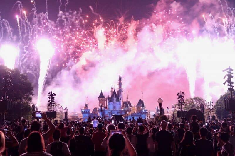 Fireworks Hong Kong Disneyland