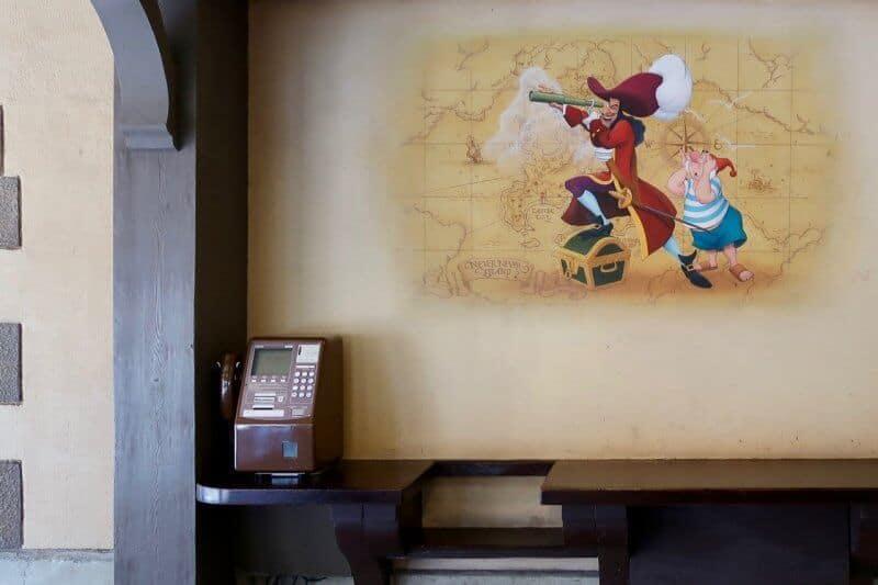Payphone Captain Hook's Galley Tokyo Disneyland