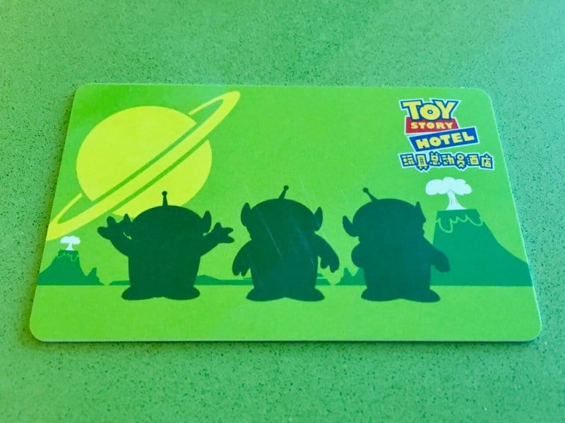 Room Key Green Aliens Toy Story Hotel Shanghai Disneyland