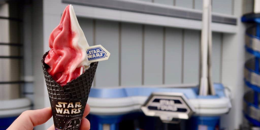 Star Wars Black Ice Cream Cone at Tokyo Disneyland