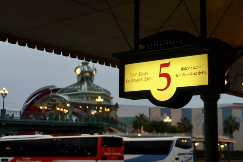 Tokyo Disney Celebration Hotel Bus Stop Disneyland