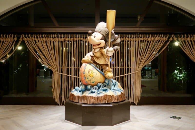 Tokyo Disney Celebration Hotel Discover Mickey Statue Close
