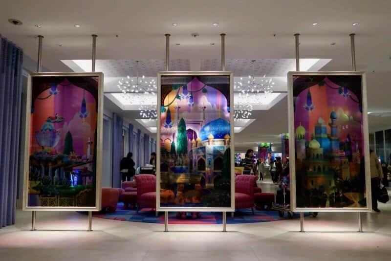 Tokyo Disney Celebration Hotel Wish Glass Murals
