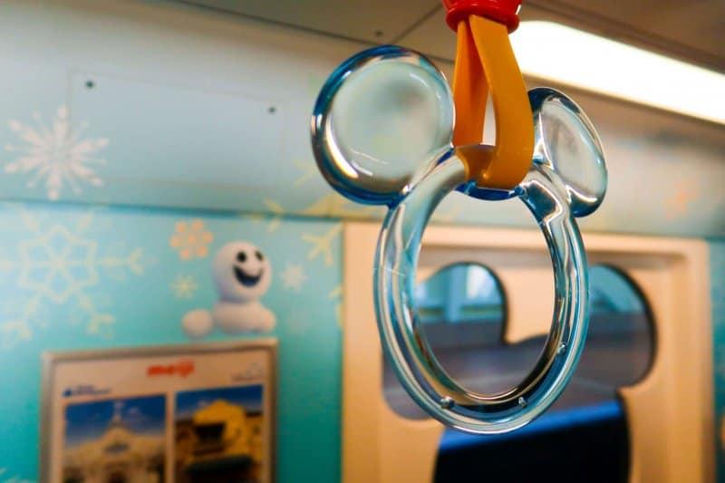 Anna and Elsa Frozen Fantasy Monorail Handles Tokyo Disneyland