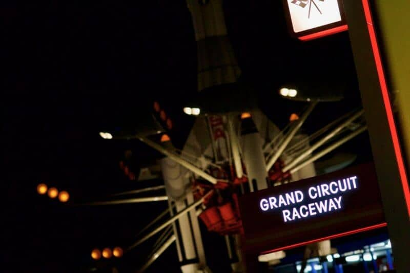 Grand Circuit Raceway Tokyo Disneyland Sign Evening