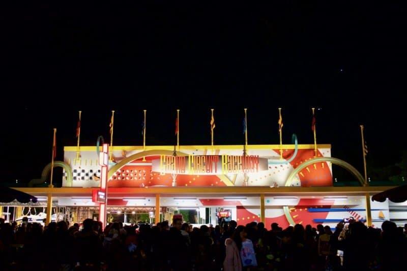 Grand Circuit Raceway Tokyo Disneyland Sign Large Evening