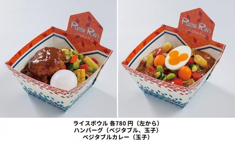 Hamburg and Veggie Rice Bowls Tokyo Disneyland